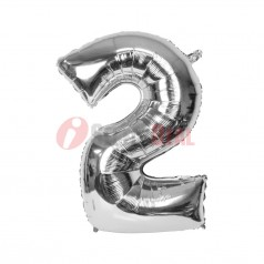 """16"""" Silver Foil Balloon Number [2]"""