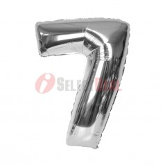 """16"""" Silver Foil Balloon Number [7]"""