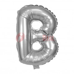 "16"" Silver Foil Balloon Letter [B]"