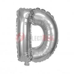 "16"" Silver Foil Balloon Letter [D]"