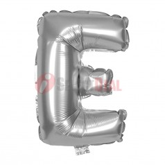 "16"" Silver Foil Balloon Letter [E]"