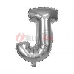 "16"" Silver Foil Balloon Letter [J]"