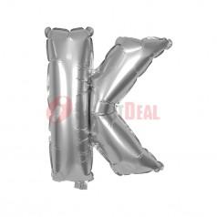 "16"" Silver Foil Balloon Letter [K]"