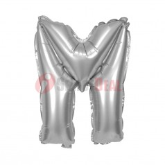 "16"" Silver Foil Balloon Letter [M]"