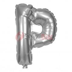 "16"" Silver Foil Balloon Letter [P]"