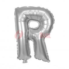"16"" Silver Foil Balloon Letter [R]"