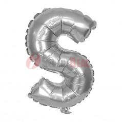 "16"" Silver Foil Balloon Letter [S]"