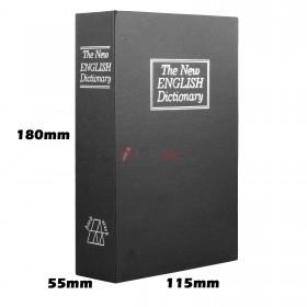 Small Dictionary Hollow Book Safe Diversion Secret Stash Booksafe Lock Key  Black